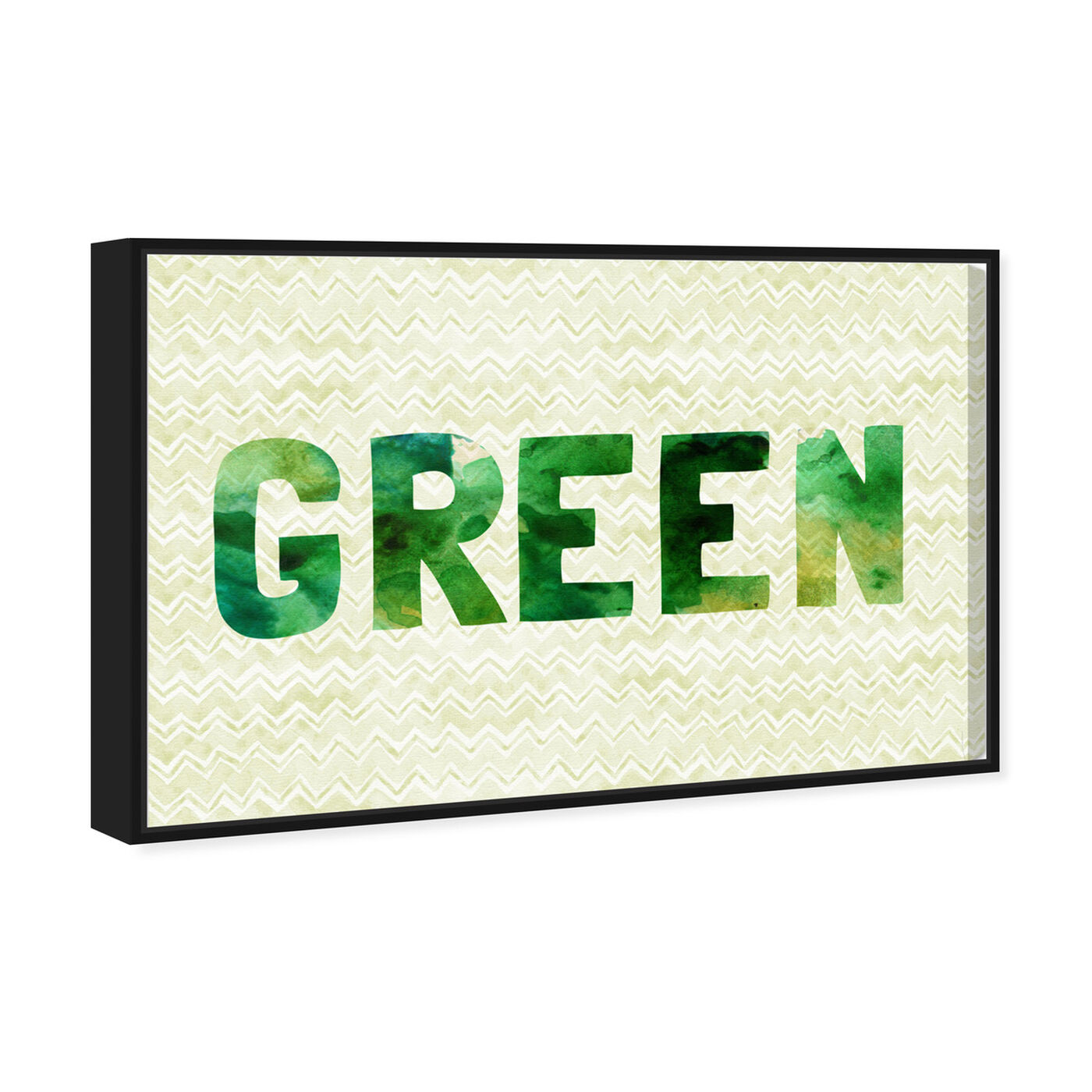Angled view of Green featuring typography and quotes and quotes and sayings art.
