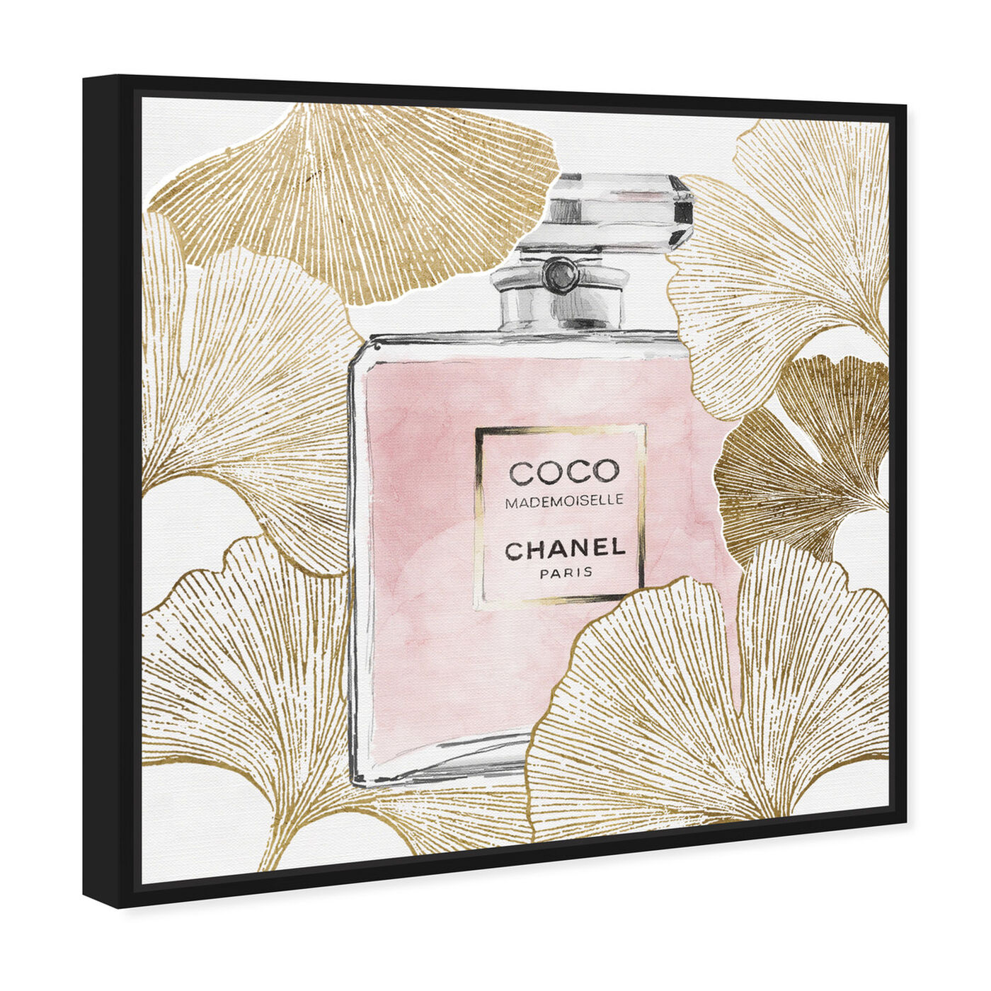 Angled view of Gold Pink Ginkcoco featuring fashion and glam and perfumes art.