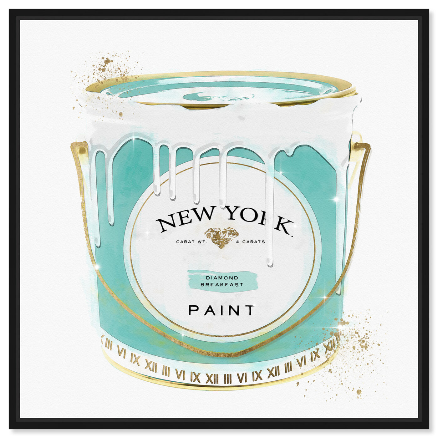 Front view of New York Priceless Fashion Paint featuring fashion and glam and cans art.