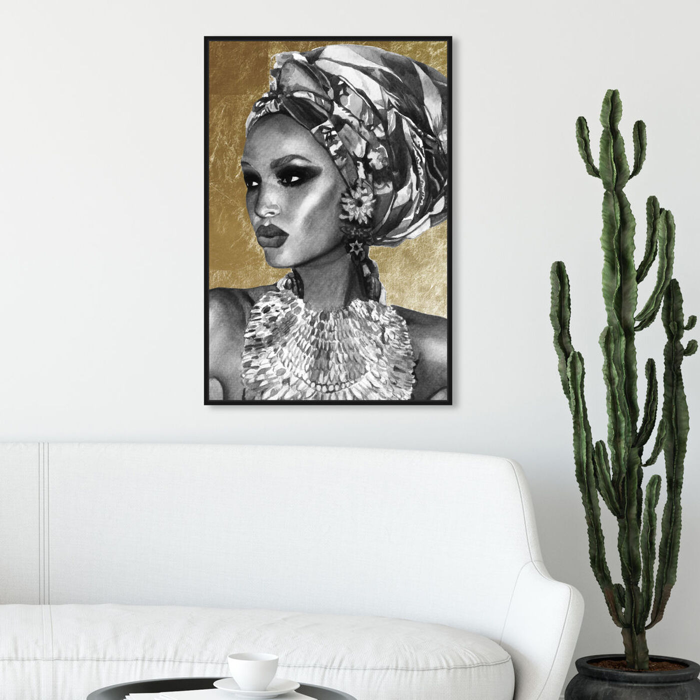 Hanging view of Goddess of Nile featuring fashion and glam and portraits art.