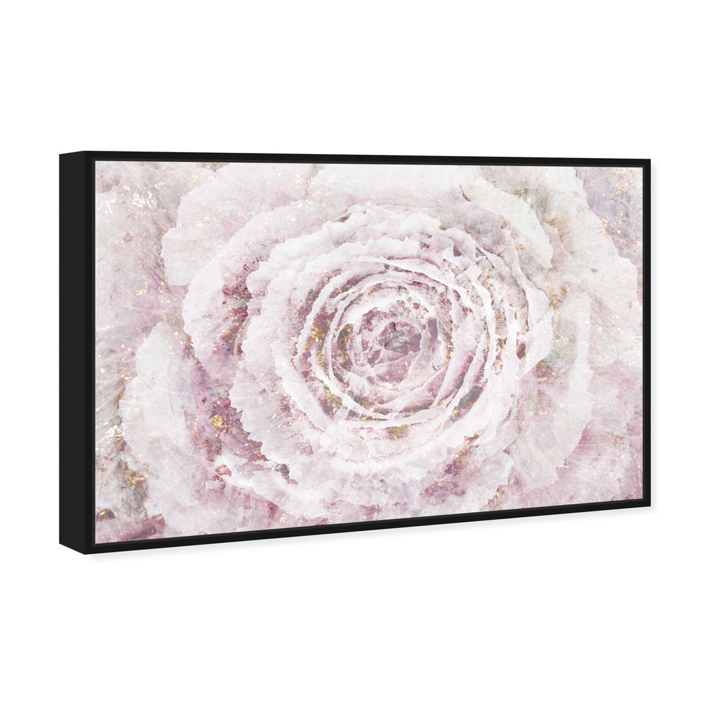 Angled view of Blush Winter Flower Amethyst featuring floral and botanical and florals art.