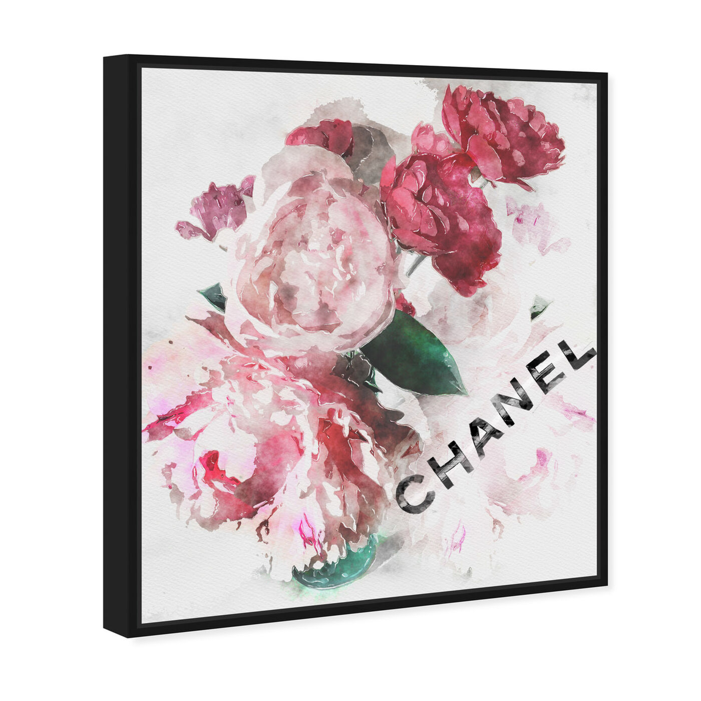 Angled view of French Peony Vase featuring fashion and glam and fashion lifestyle art.