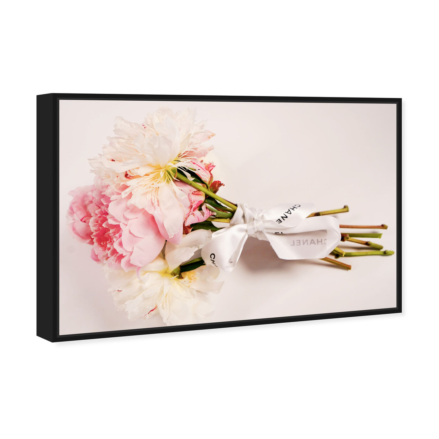 Angled view of Bouquet of Peonies featuring floral and botanical and florals art.