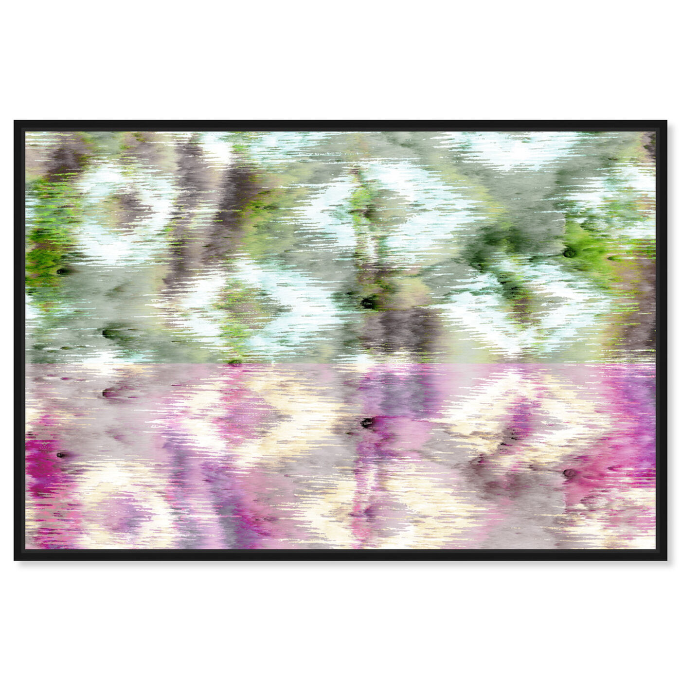Front view of Morning Rain featuring abstract and patterns art.