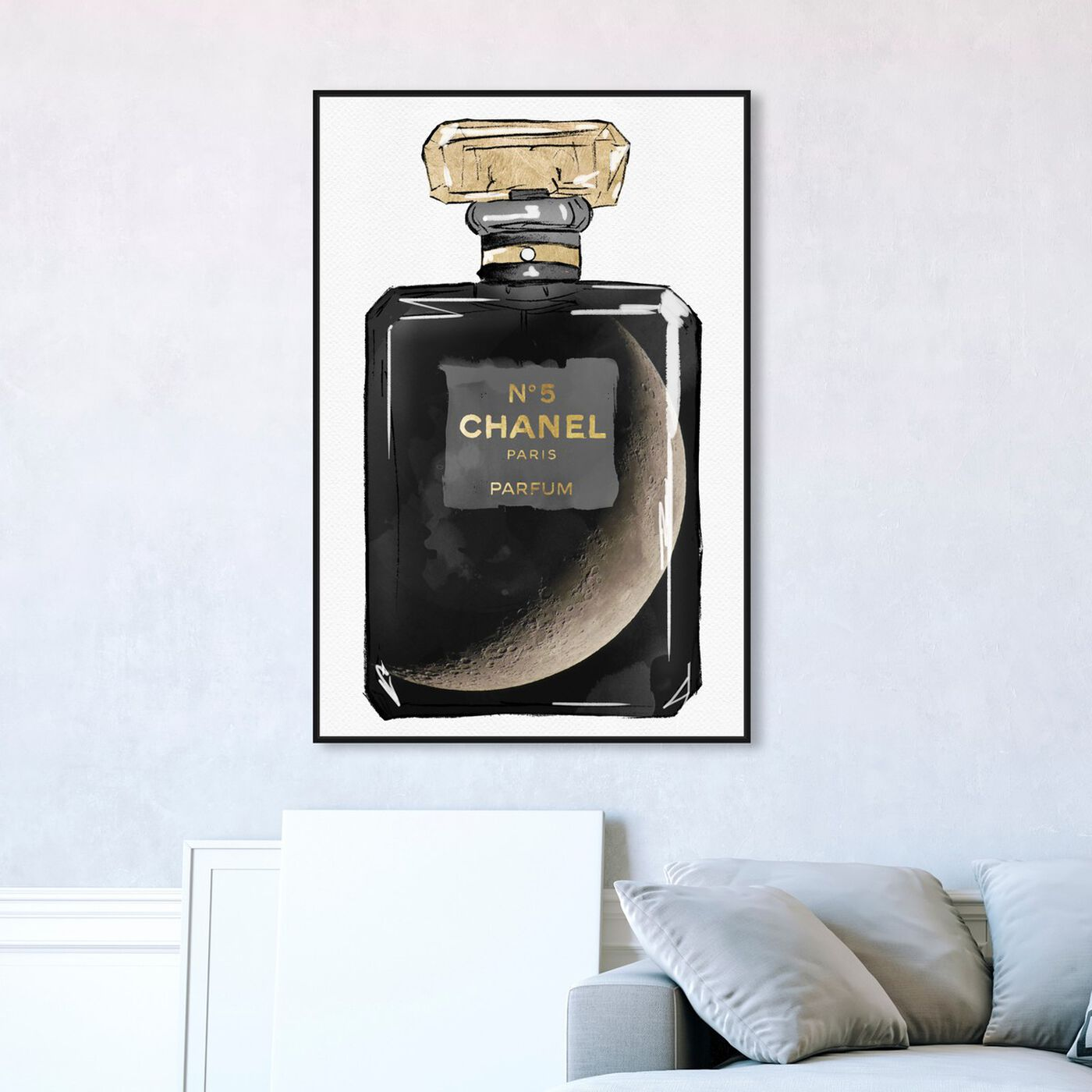 Hanging view of Take Me To The Moon Parfum featuring fashion and glam and perfumes art.