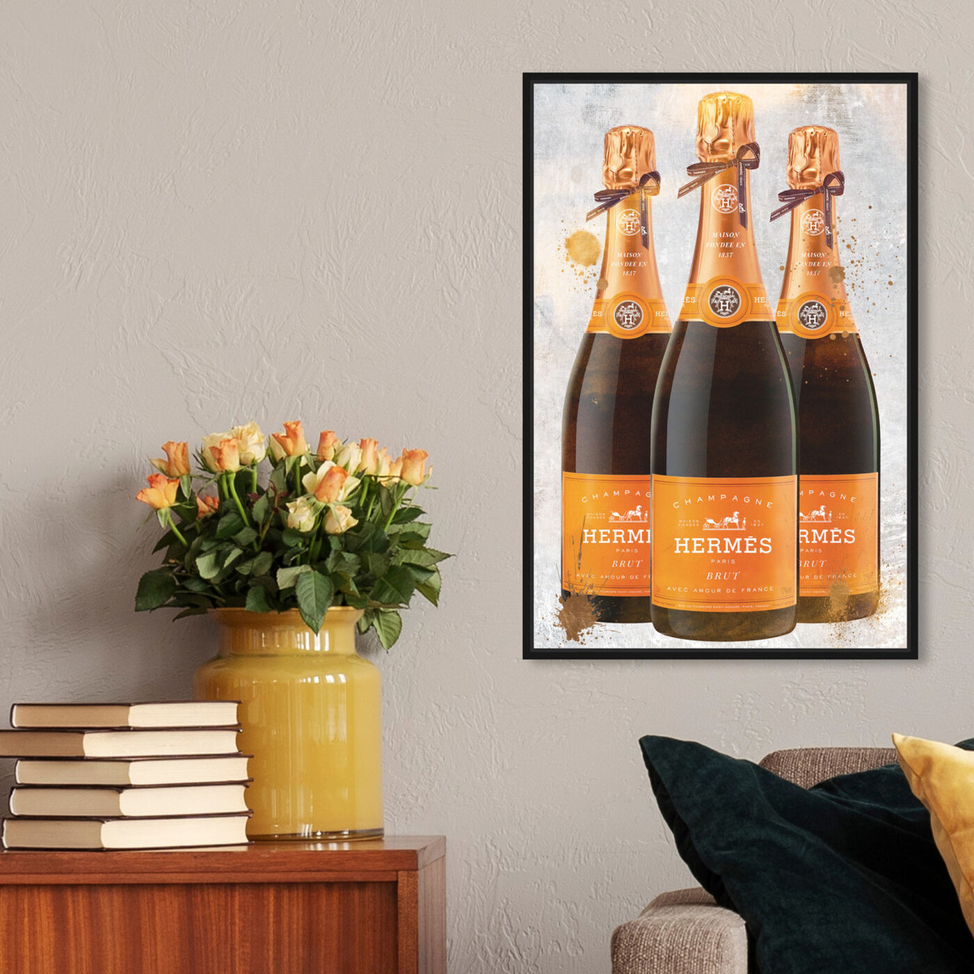 Hanging view of Bags and Bubbles Champagne featuring fashion and glam and lifestyle art.