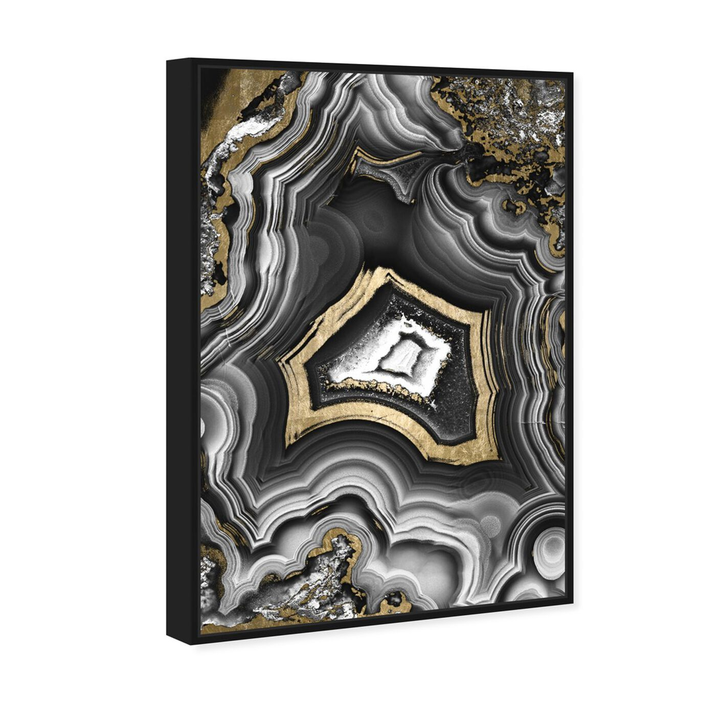 Angled view of AdoreGeo featuring abstract and crystals art.