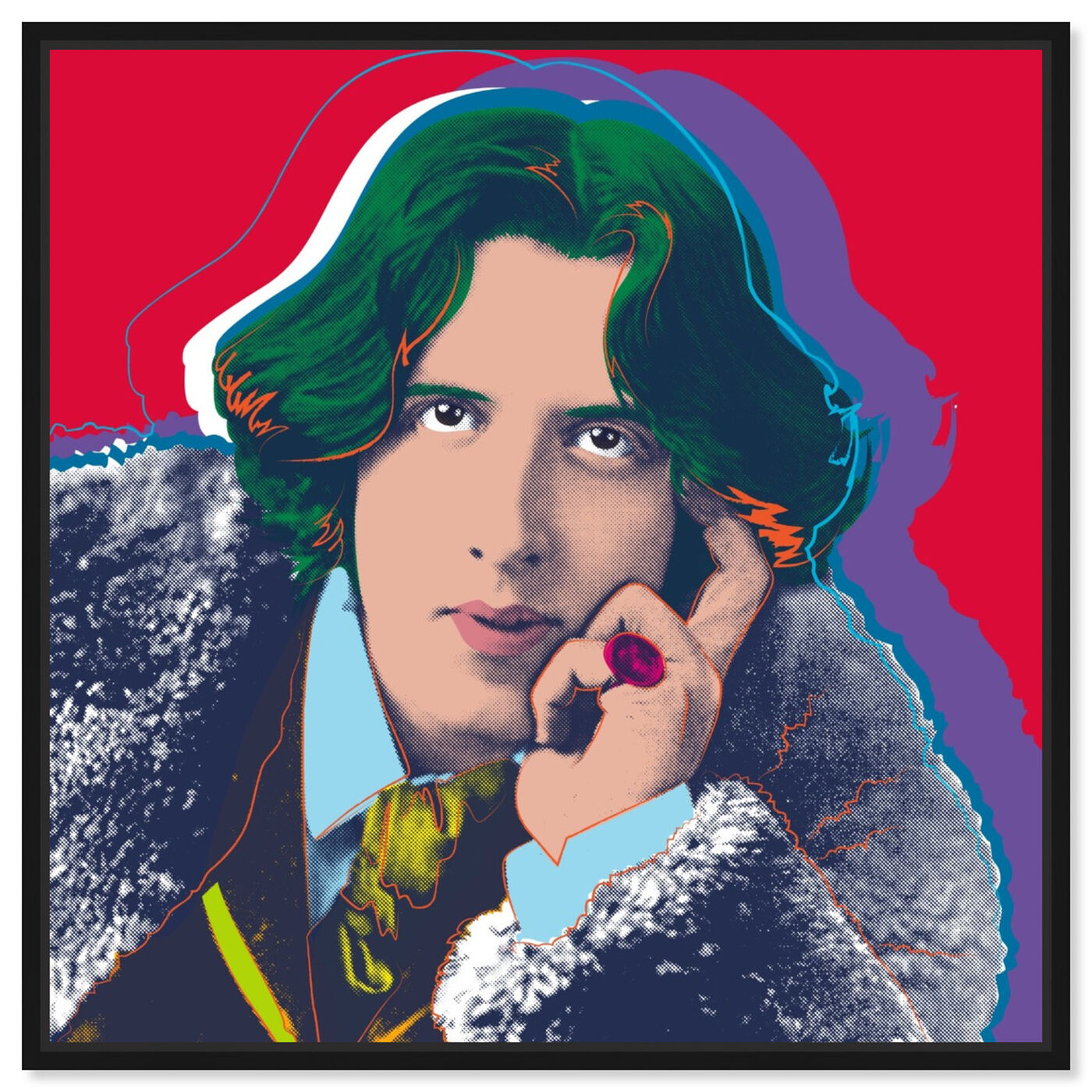 Front view of Oscar Wilde featuring people and portraits and celebrities art.