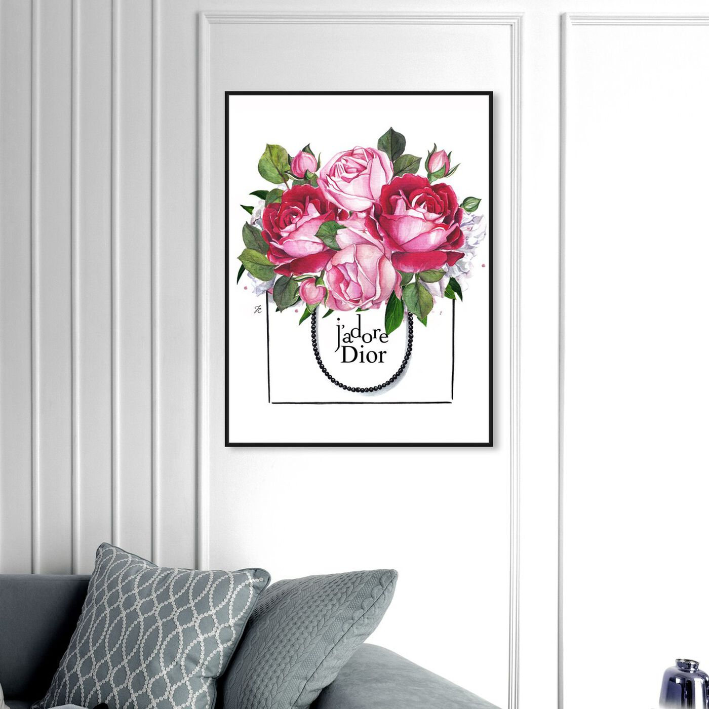 Hanging view of Doll Memories - Peonies I featuring floral and botanical and florals art.