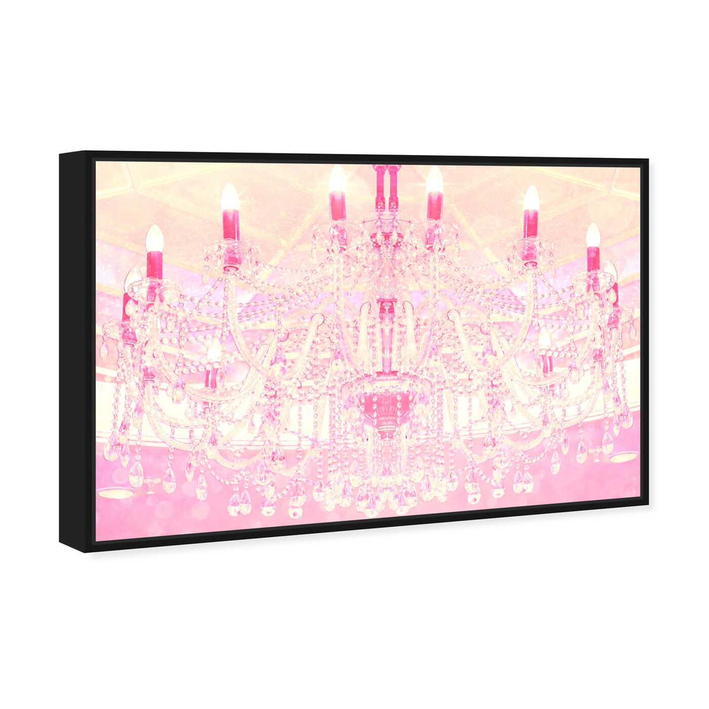 Angled view of Strawberry Vanilla Lights  featuring fashion and glam and chandeliers art.