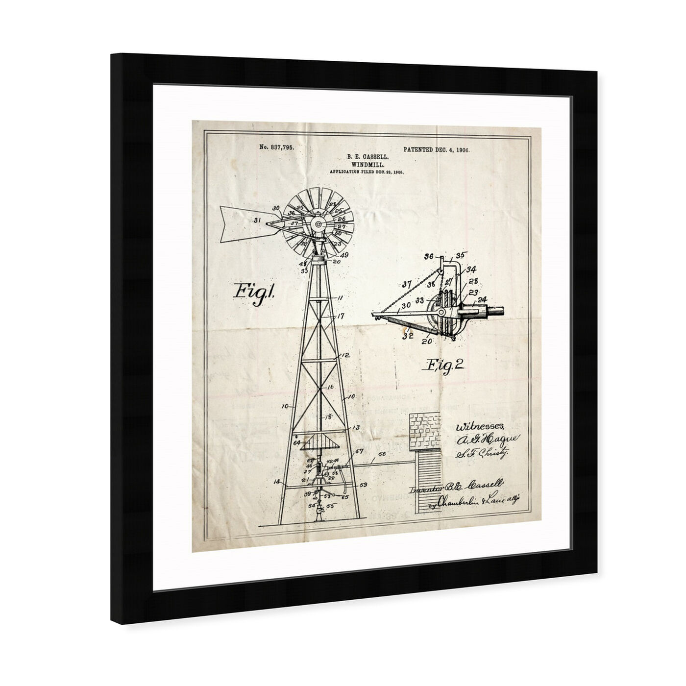 Angled view of Windmill 1906 featuring architecture and buildings and structures art.