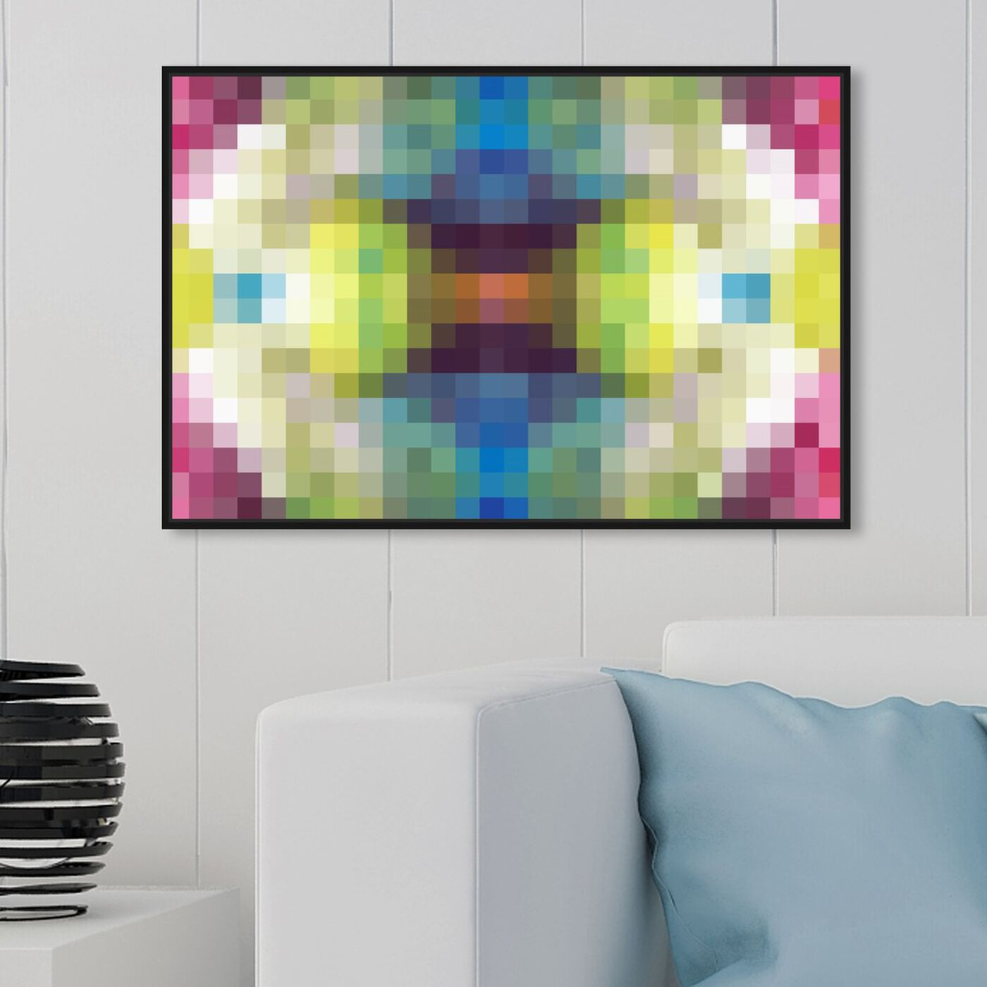 Hanging view of Candy Store Pixel featuring abstract and textures art.