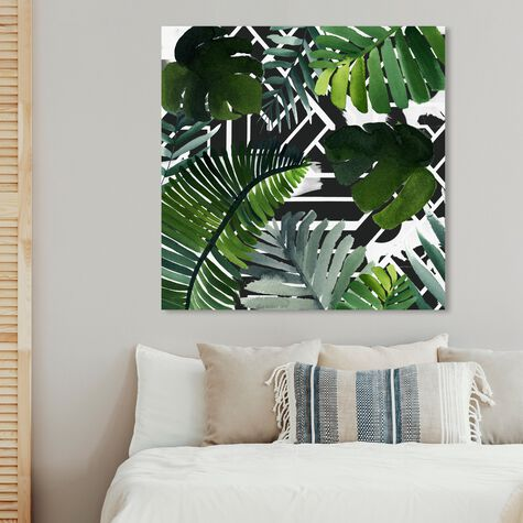 Introspect Palm Leaves Black