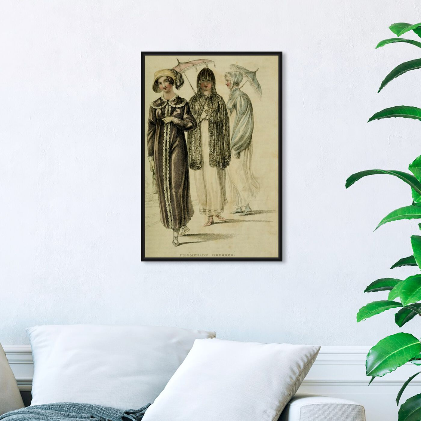 Hanging view of Promenade Dresses - The Art Cabinet featuring classic and figurative and realism art.