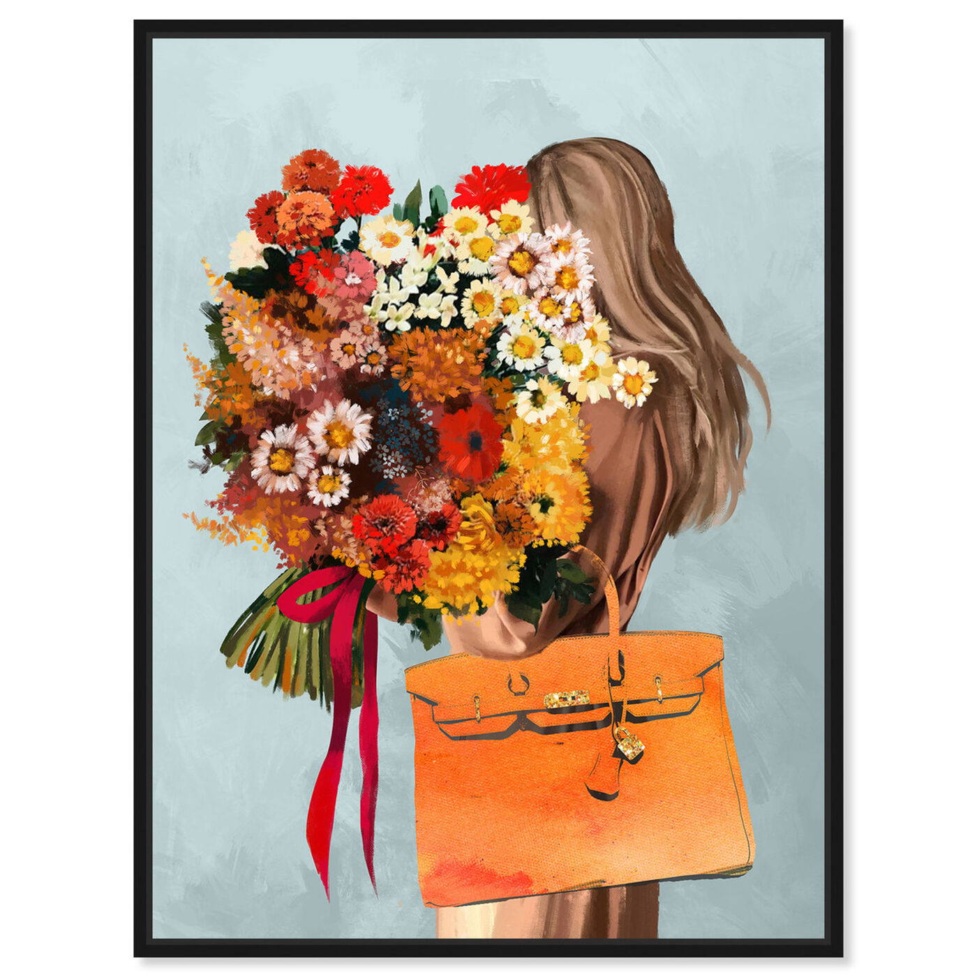Front view of Autumn Bouquet featuring fashion and glam and handbags art.