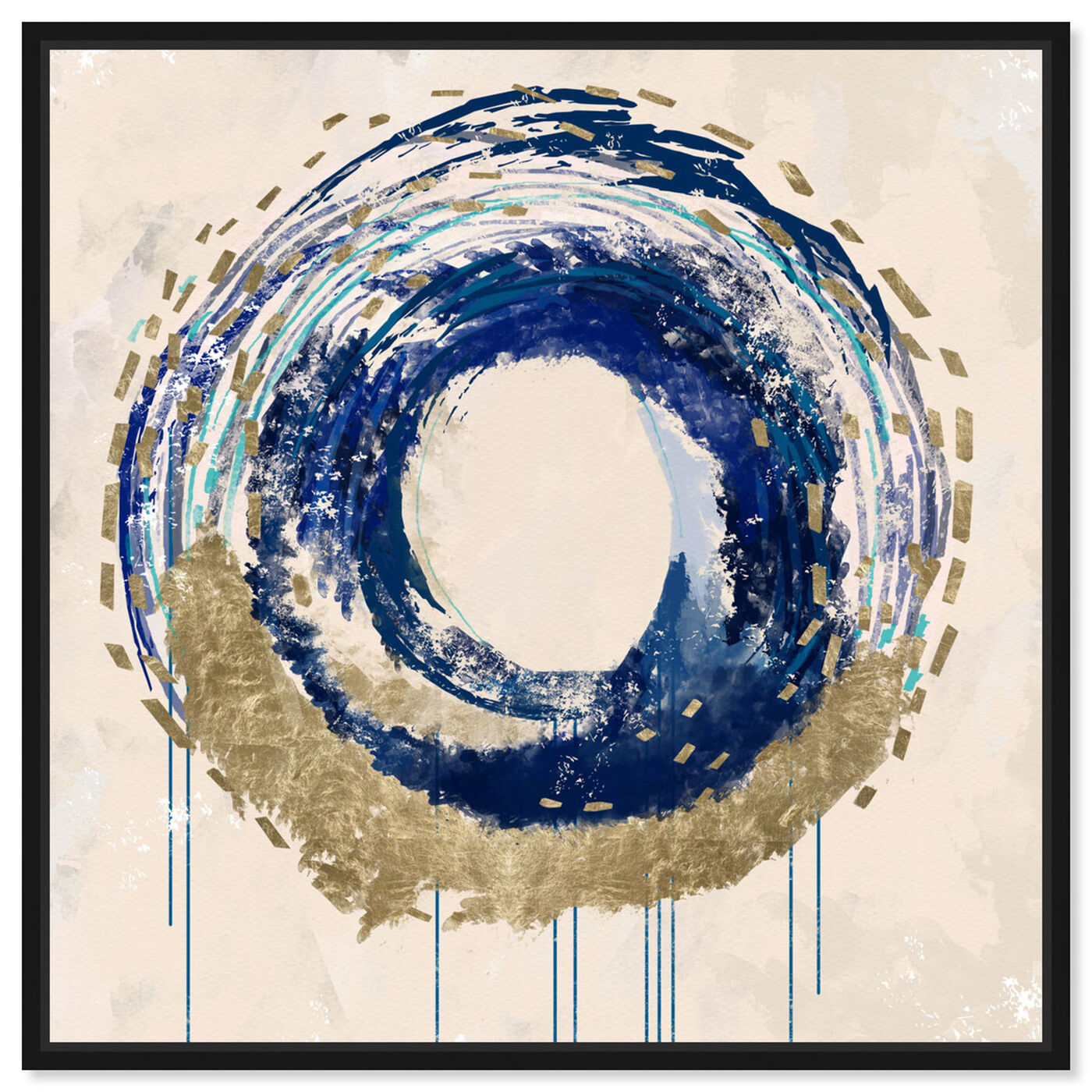 Front view of Circular Movement featuring abstract and shapes art.