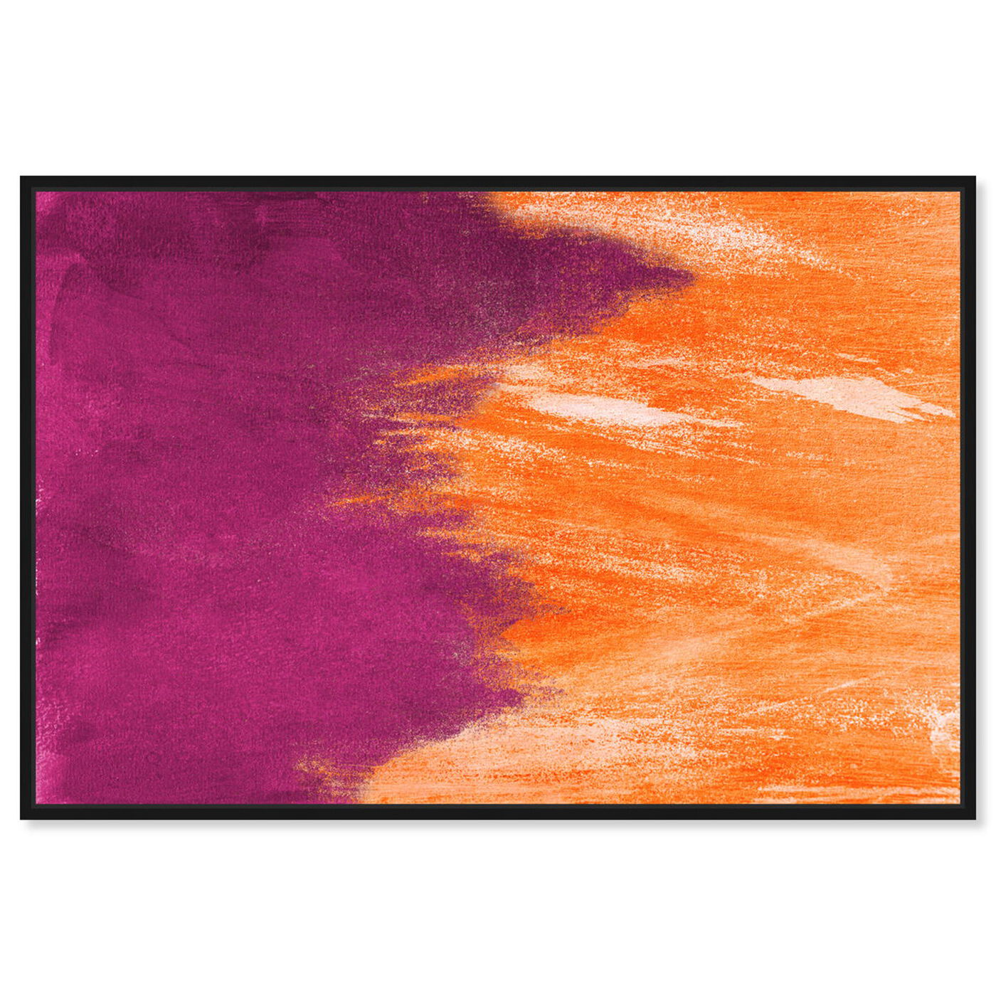 Front view of Light symphony Orange featuring abstract and paint art.