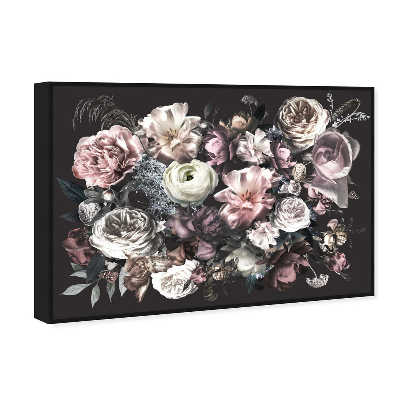 Angled view of Elizabeth Grace Flowers featuring floral and botanical and florals art.