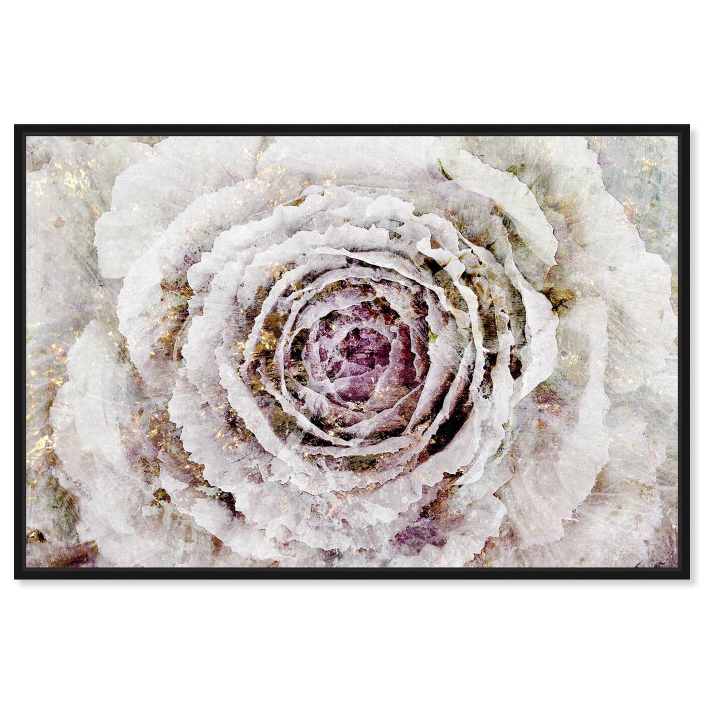 Front view of Winter New York Flower featuring floral and botanical and florals art.