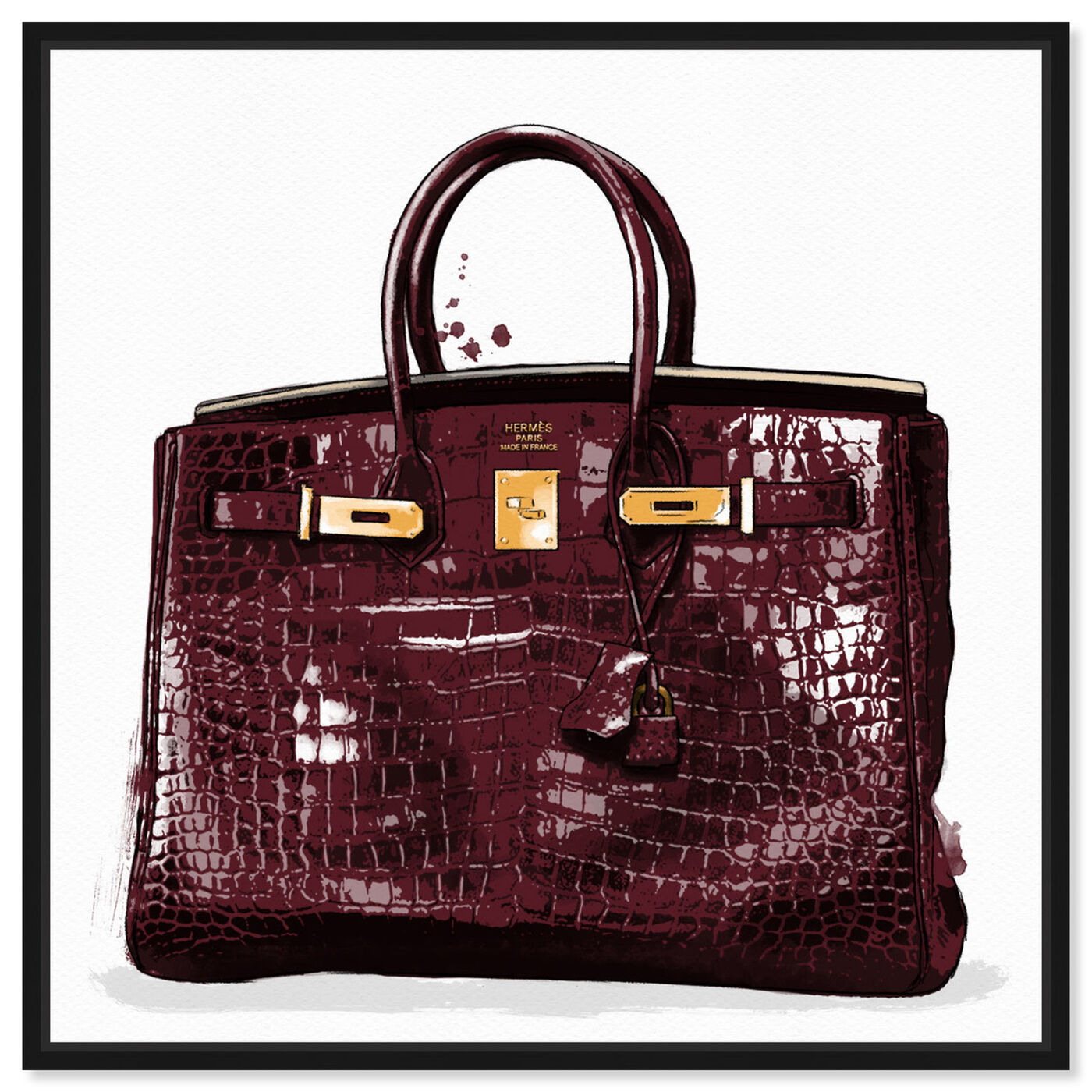 Front view of Garnet Beauty featuring fashion and glam and handbags art.