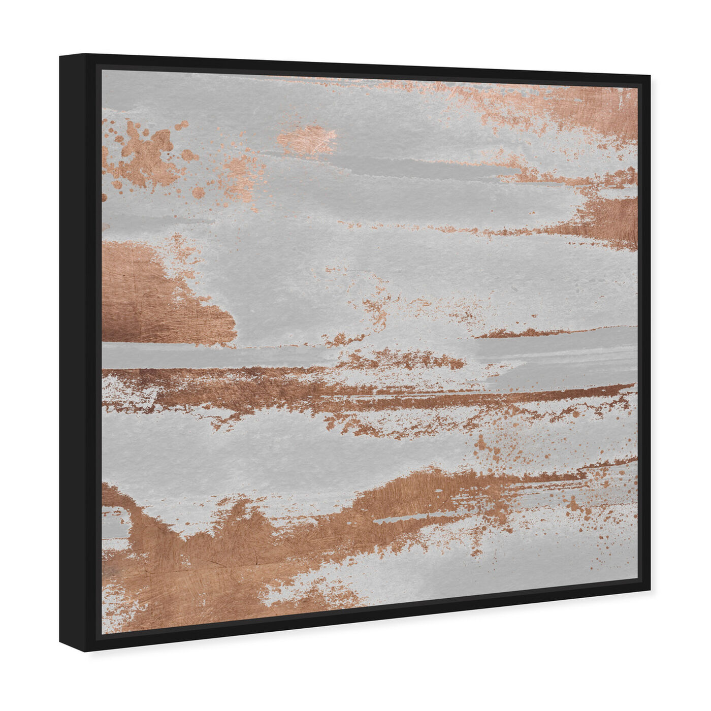 Angled view of Copper Rain and Sunshine featuring abstract and paint art.