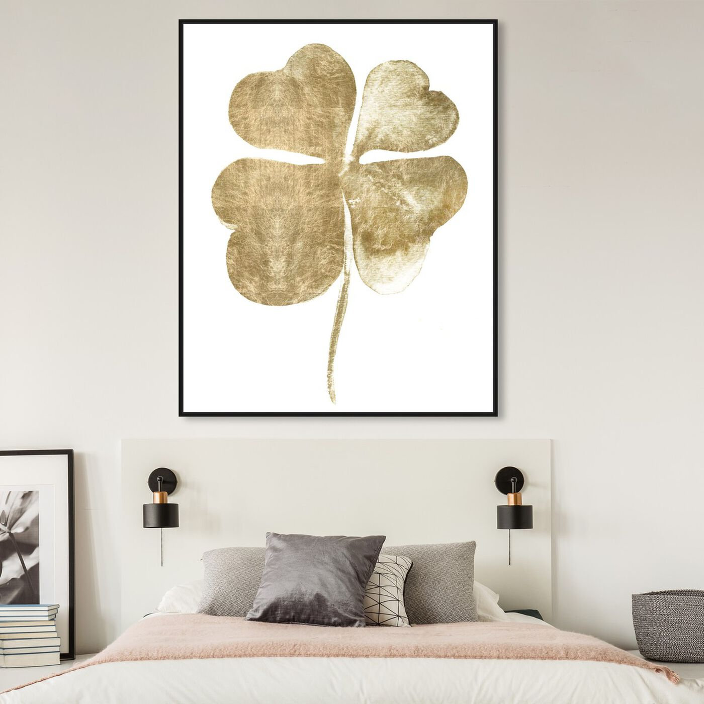 Hanging view of Clover featuring floral and botanical and botanicals art.