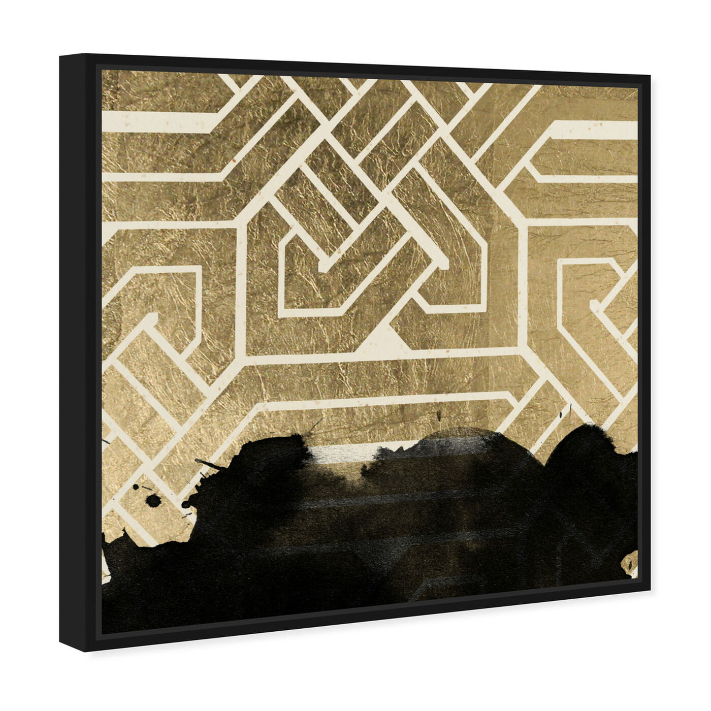 Angled view of Introspect Deco featuring abstract and shapes art.