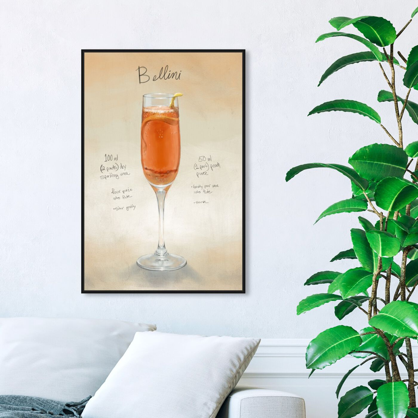 Hanging view of Bellini featuring drinks and spirits and cocktails art.