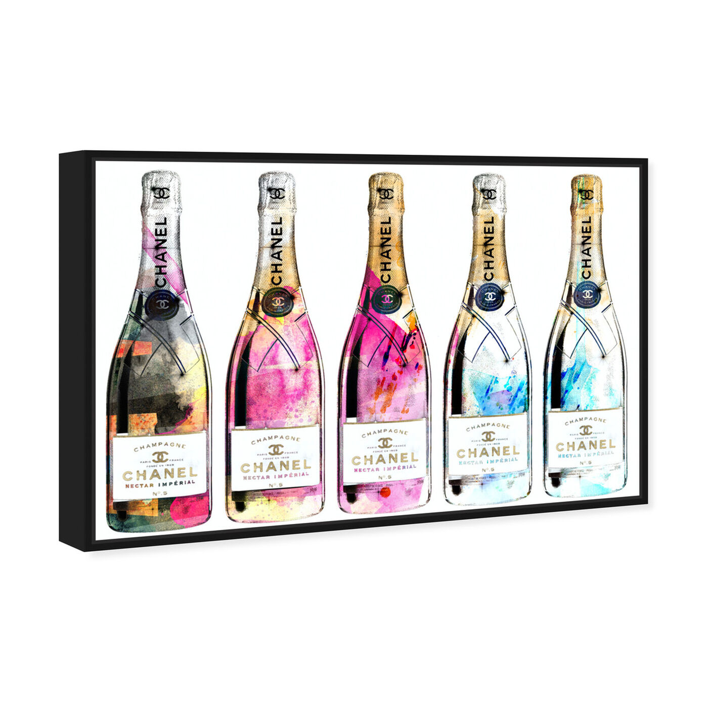 Angled view of Drink Up Champagne featuring fashion and glam and lifestyle art.