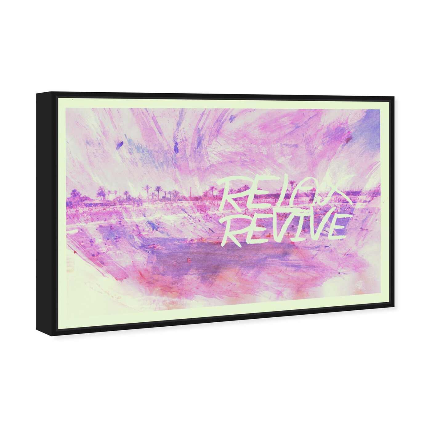 Angled view of Revive featuring typography and quotes and quotes and sayings art.