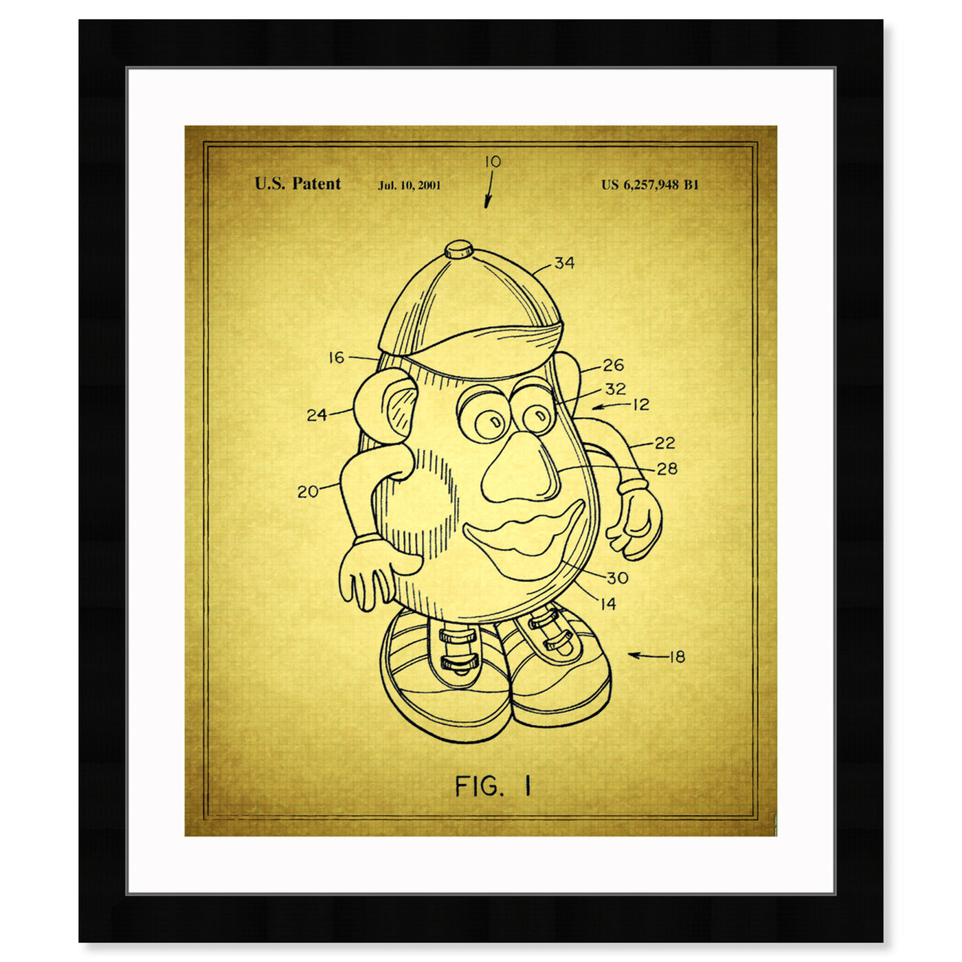 Front view of Mr Potato, 2001 featuring symbols and objects and toys art.