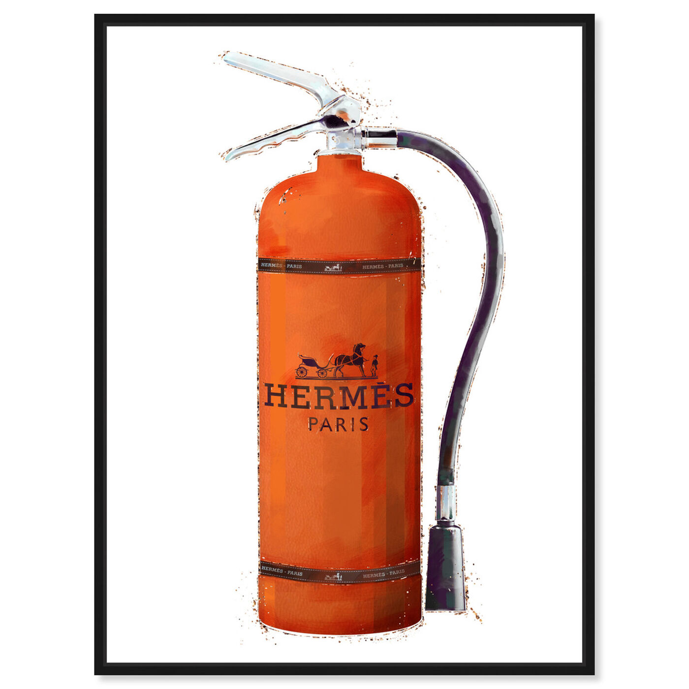 Front view of Orange Extinguisher featuring fashion and glam and lifestyle art.