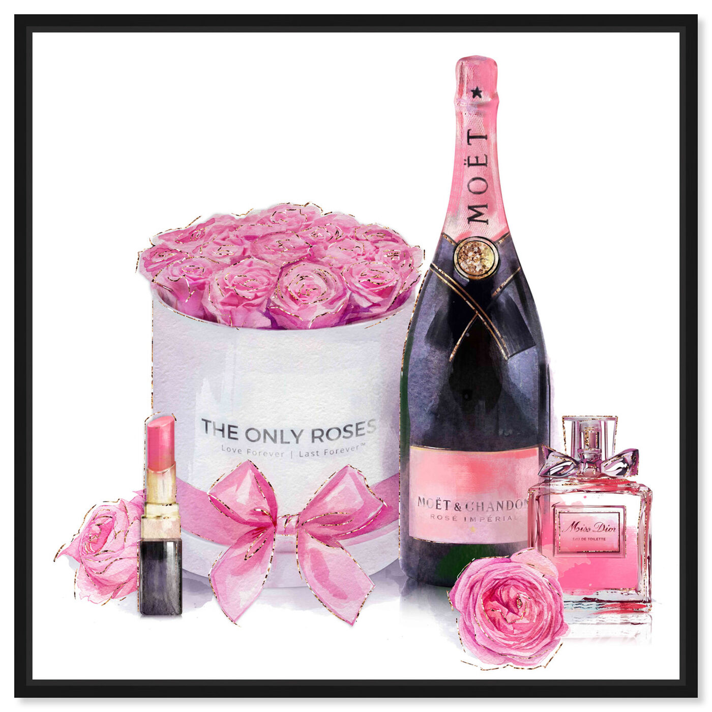 Front view of Pinkish Glamour featuring fashion and glam and perfumes art.