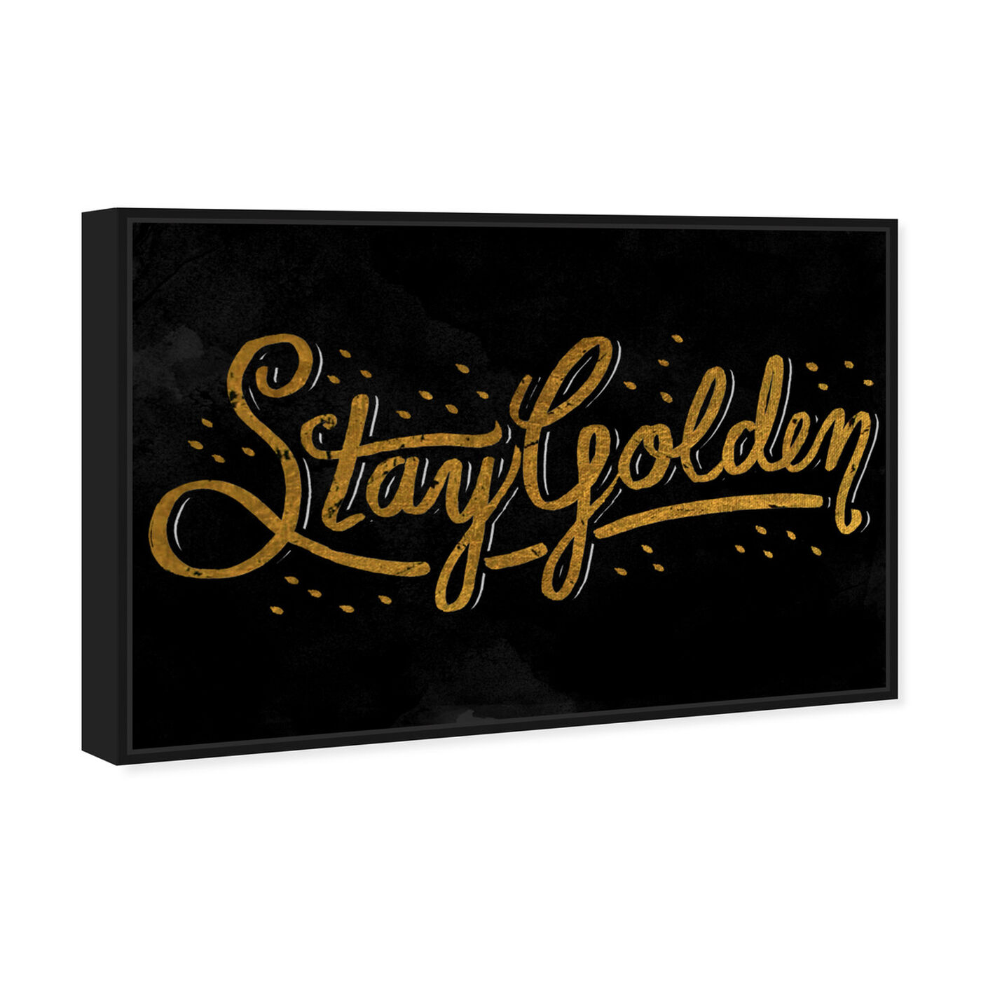 Angled view of Stay Golden II featuring typography and quotes and beauty quotes and sayings art.