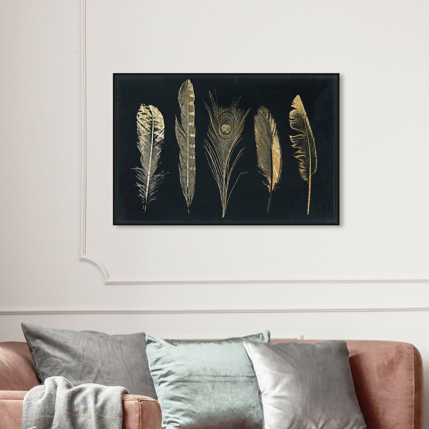 Hanging view of Corinthian Feathers - Signature Collection featuring fashion and glam and feathers art.