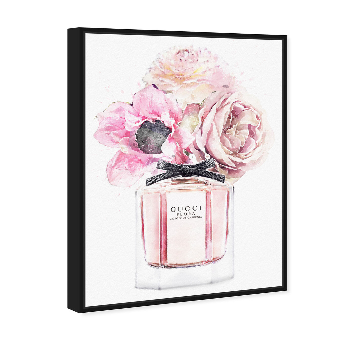 Angled view of Gorgeous Gardenia Perfume featuring fashion and glam and perfumes art.