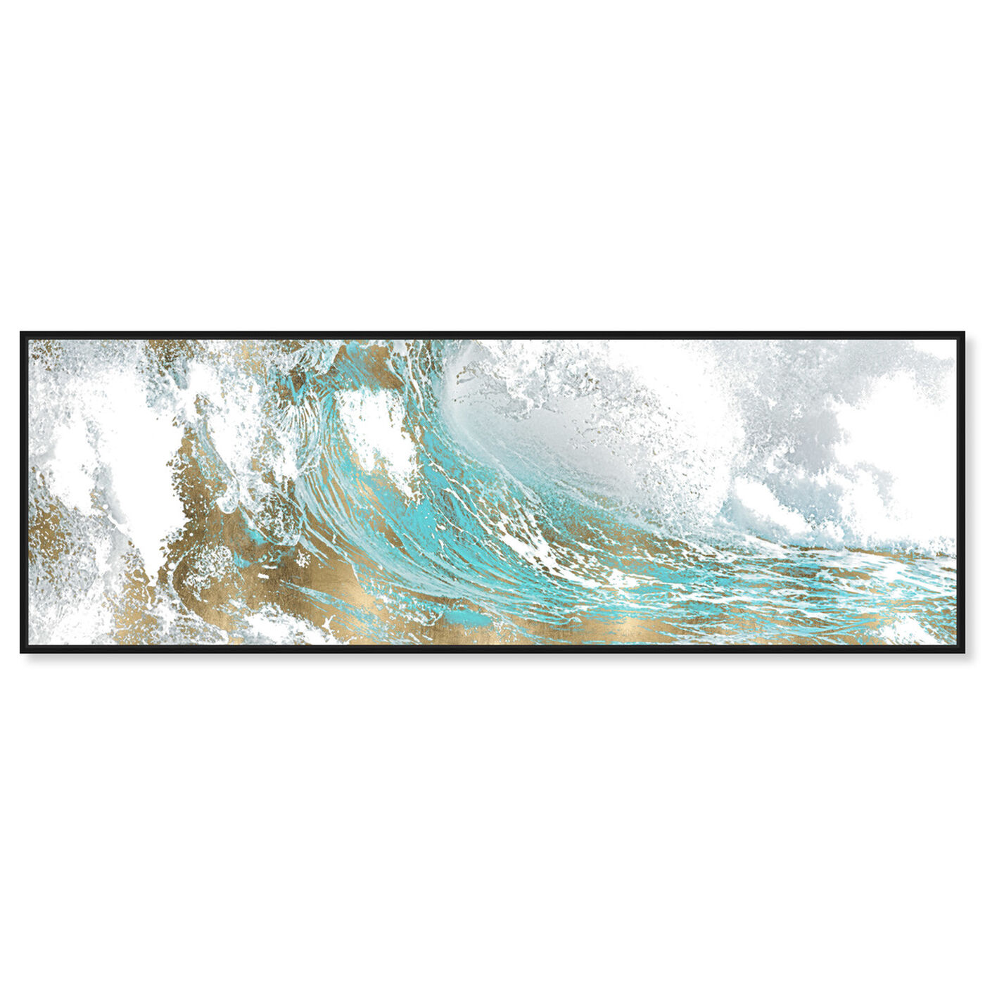 Front view of Wave in a Moment Aqua featuring abstract and paint art.