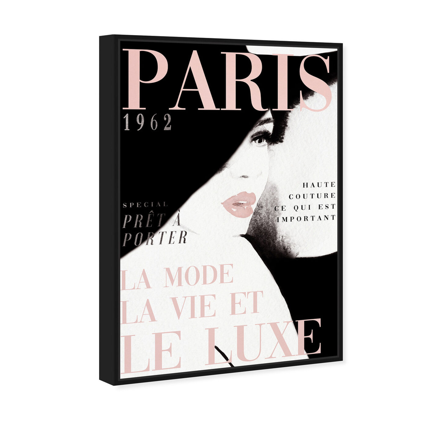 Angled view of Cover Paris in Blush featuring fashion and glam and makeup art.