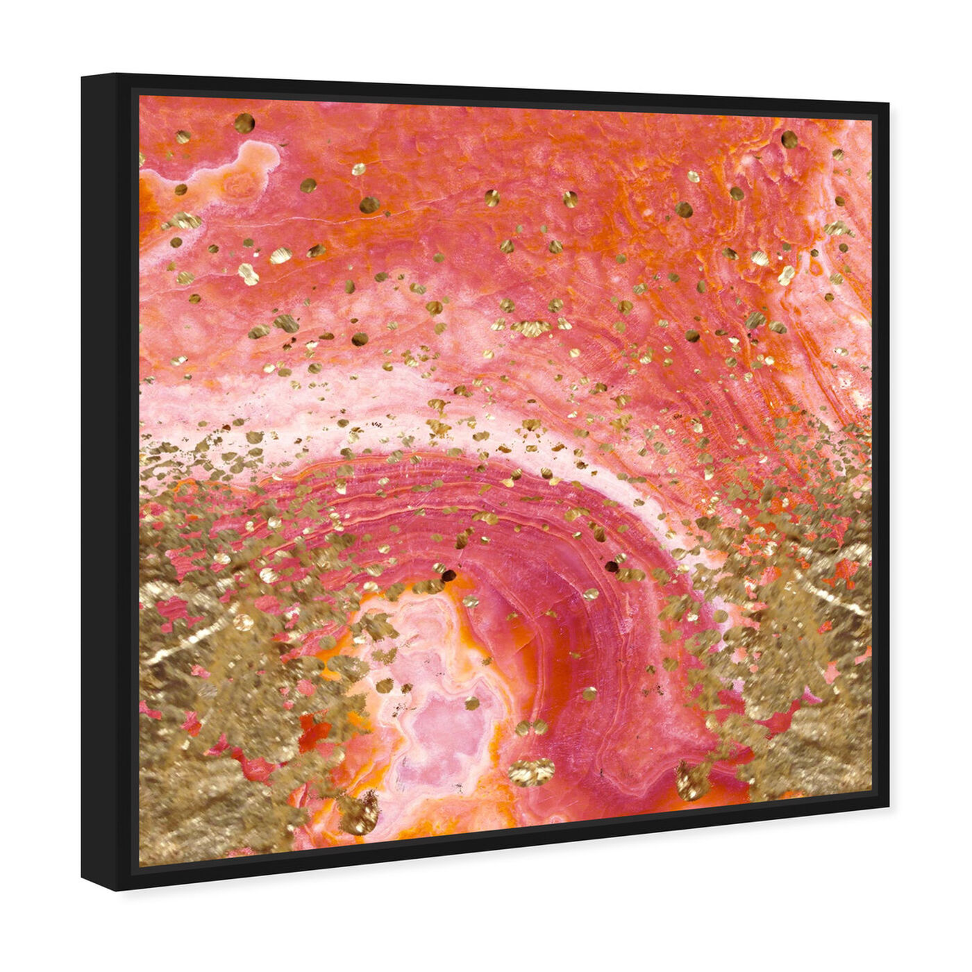 Angled view of Koi Stone featuring abstract and crystals art.