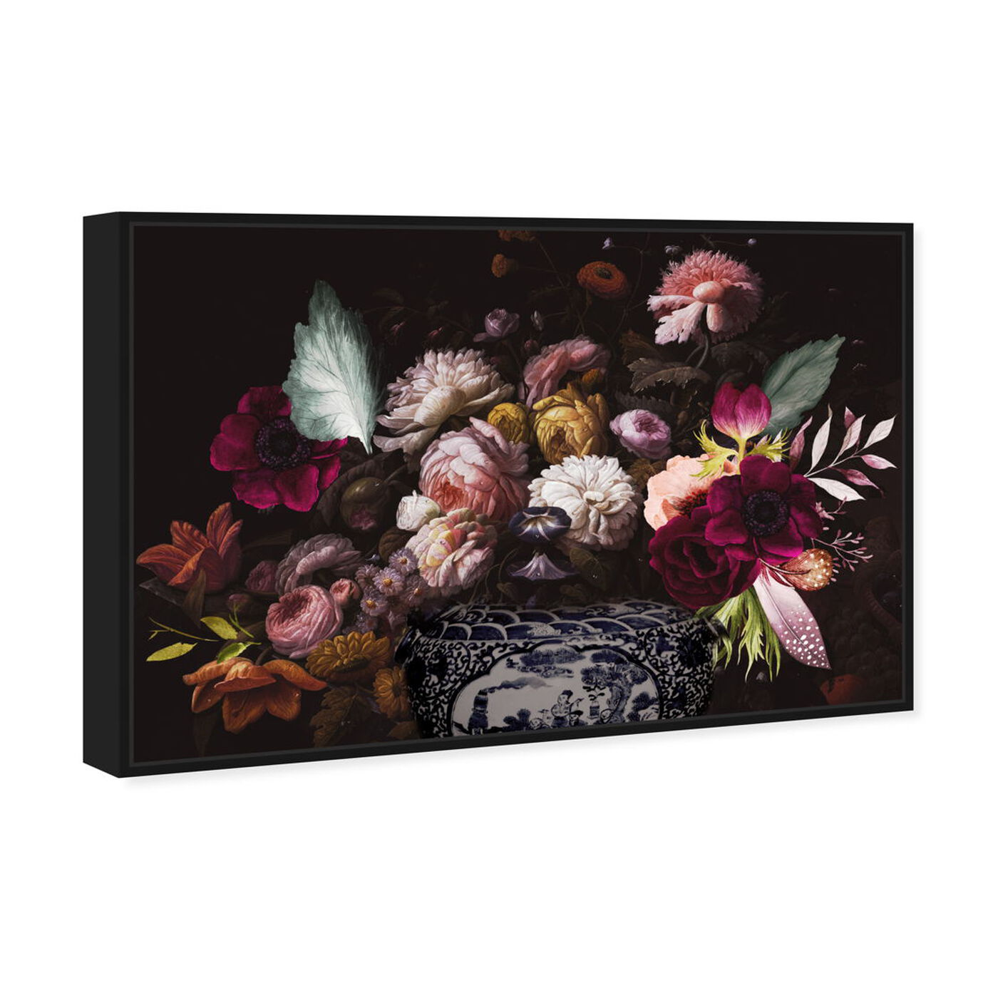Angled view of Colorful Classical Bouquet featuring floral and botanical and florals art.