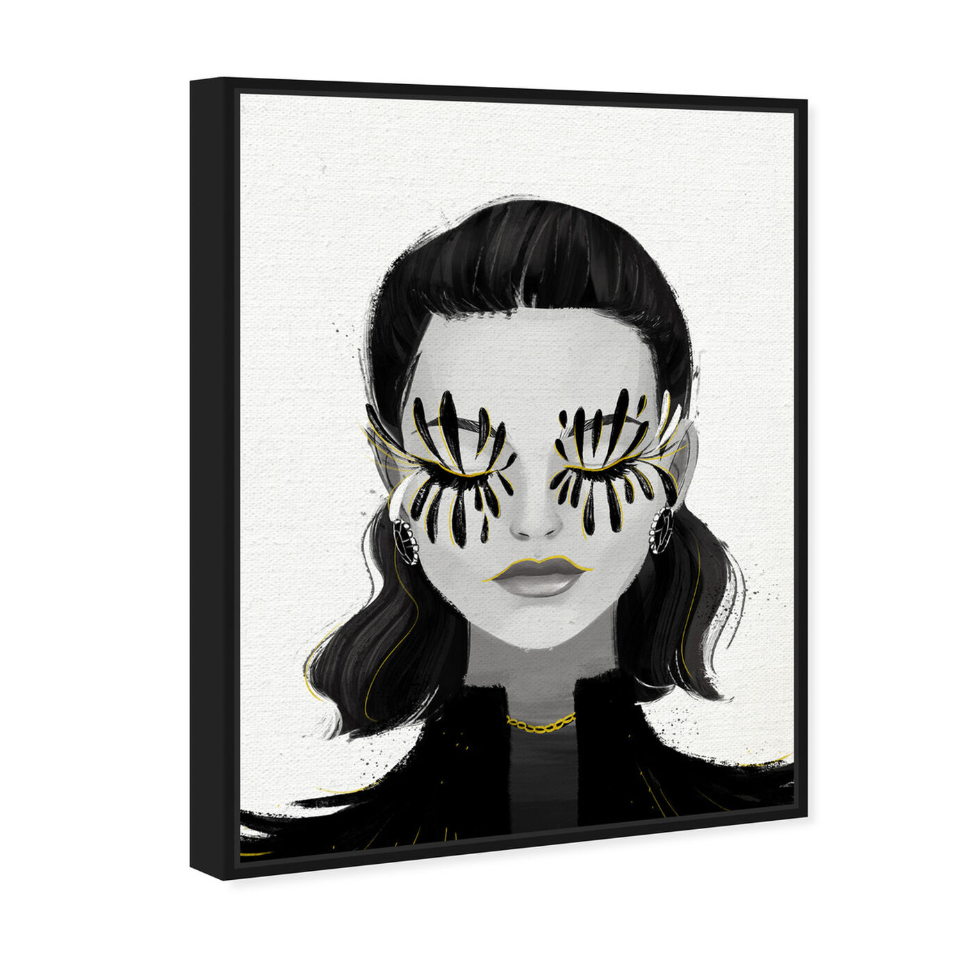 Angled view of Eyelash Petals Girls featuring fashion and glam and portraits art.
