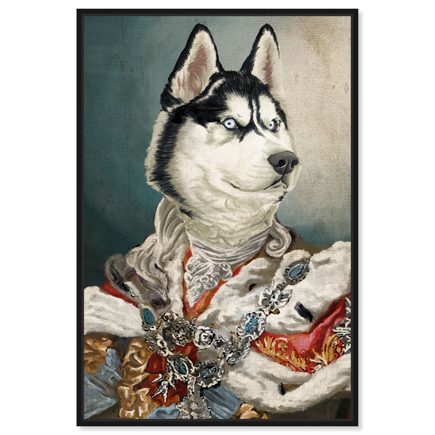 Front view of Royal Husky featuring animals and dogs and puppies art.