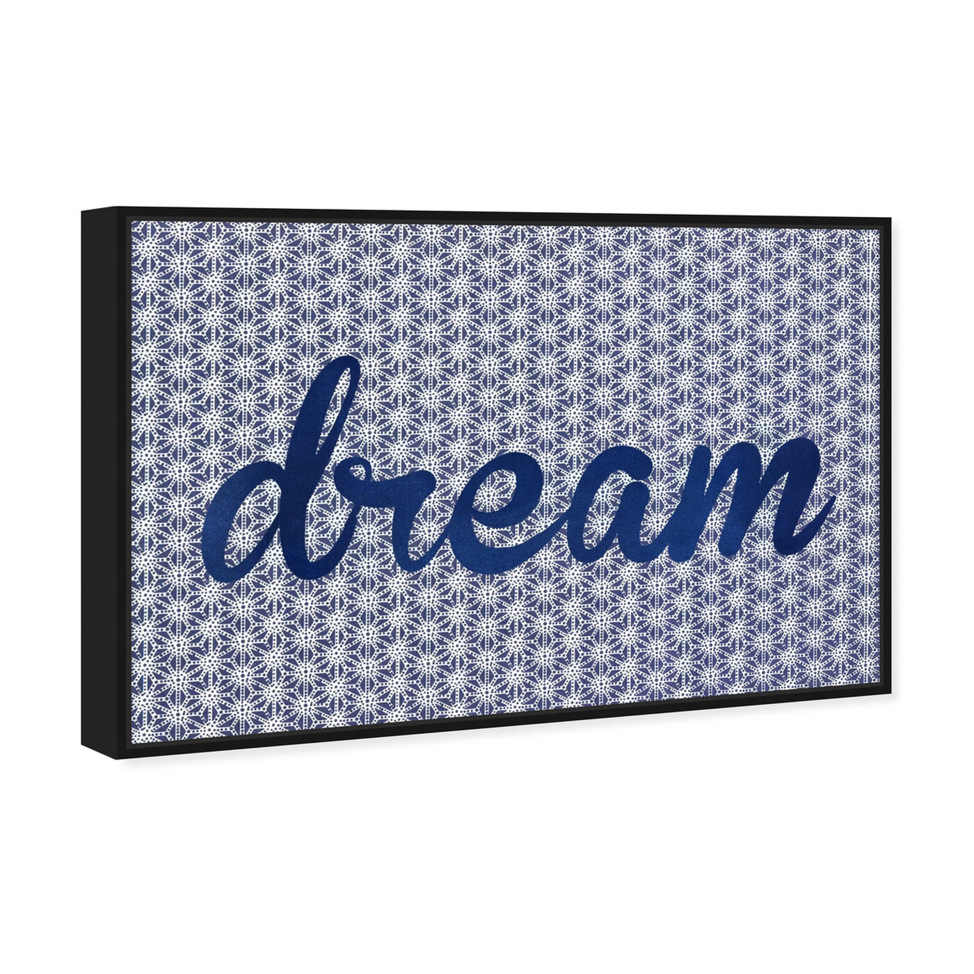 Angled view of Dream Dream Dream featuring typography and quotes and motivational quotes and sayings art.