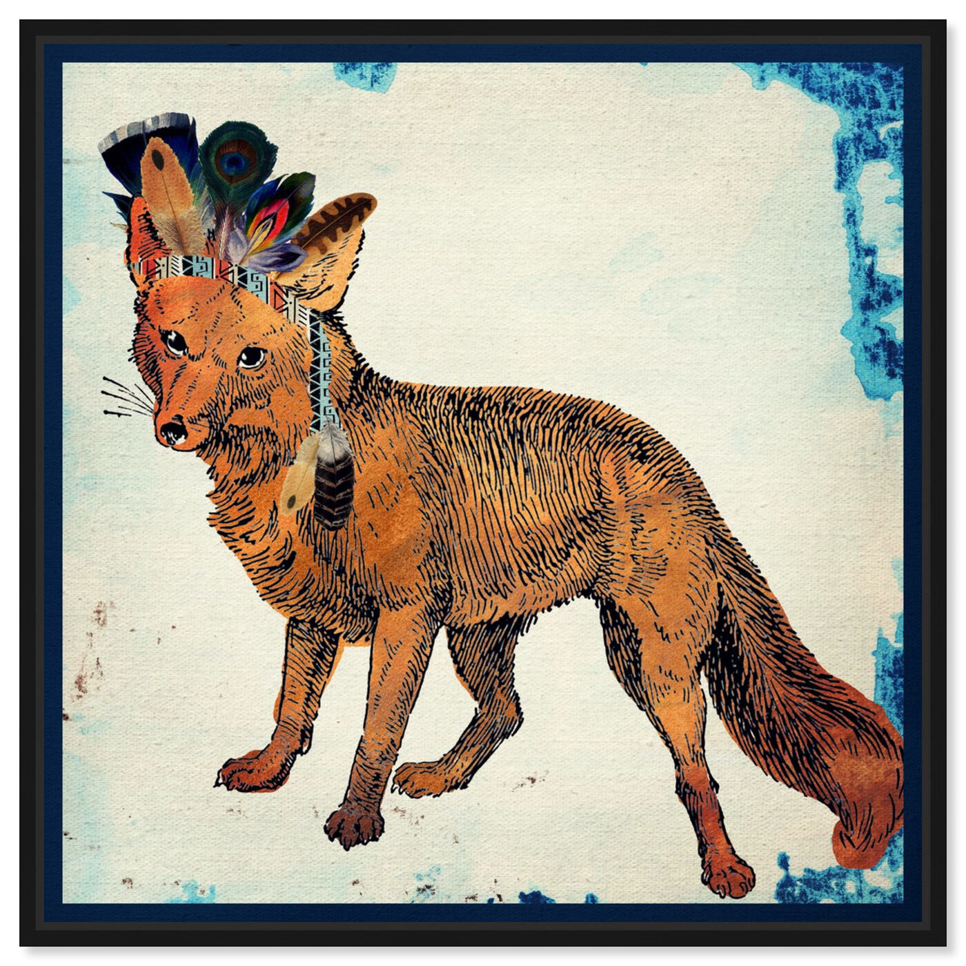 Front view of Wild Fox featuring animals and zoo and wild animals art.