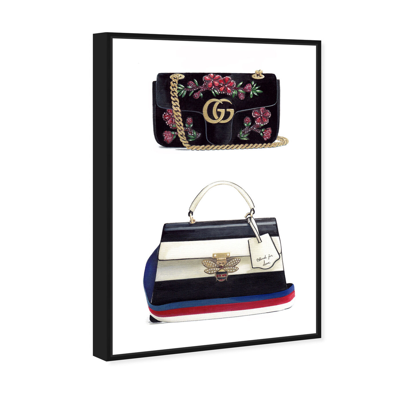 Angled view of Doll Memories - New Collection featuring fashion and glam and handbags art.