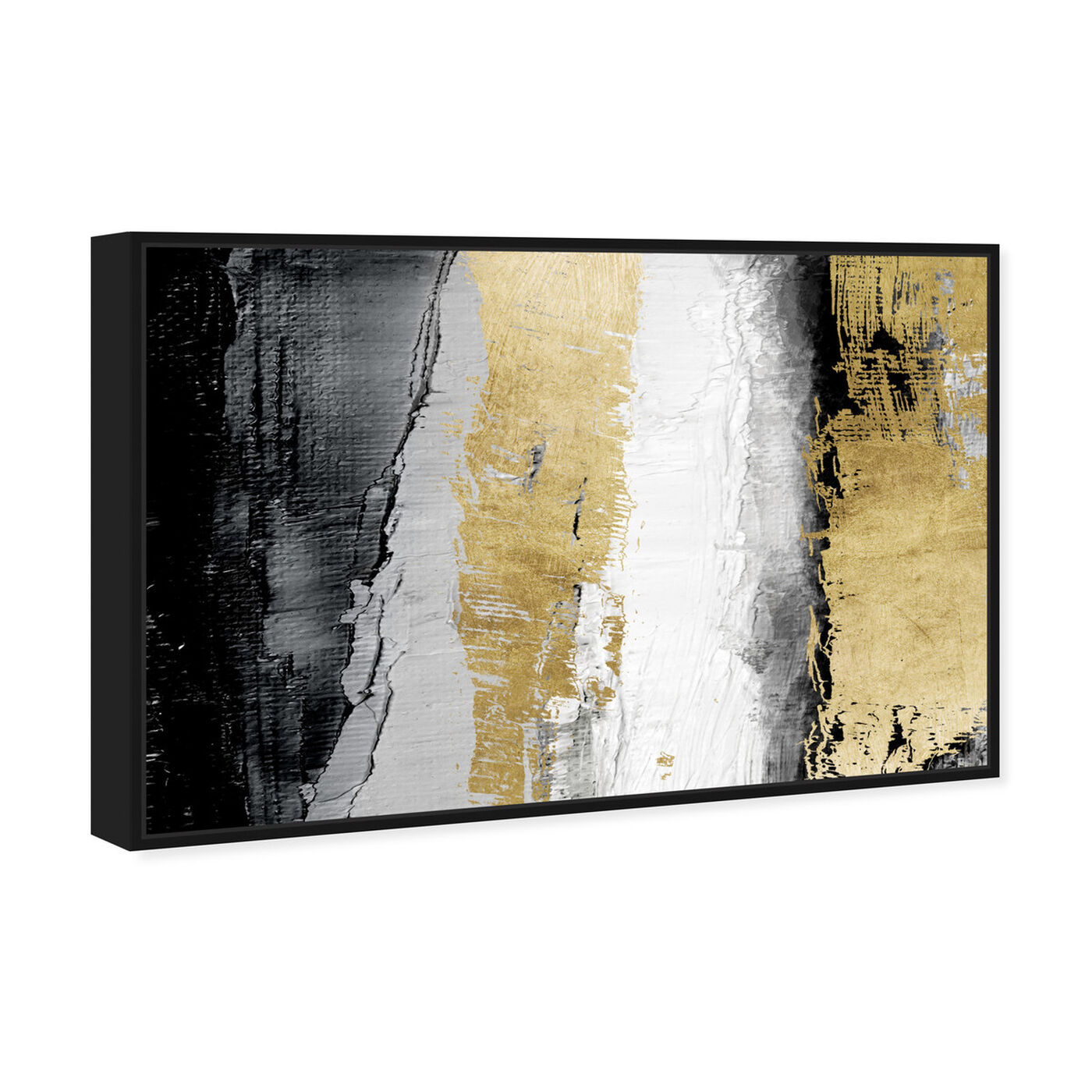 Angled view of Envision and Elevate Gold featuring abstract and paint art.