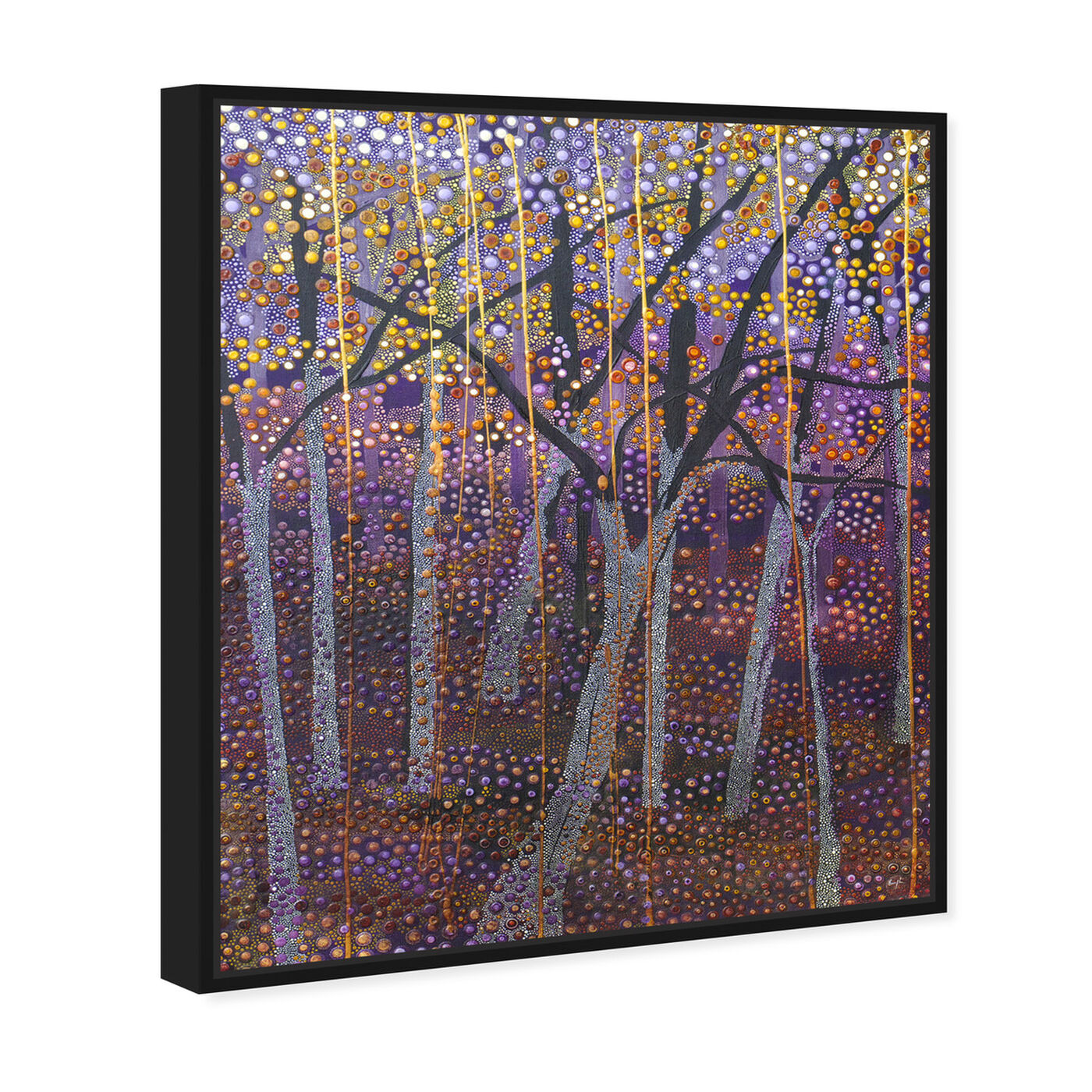 Angled view of Enriqueta Ahrensburg - Black Night featuring nature and landscape and forest landscapes art.