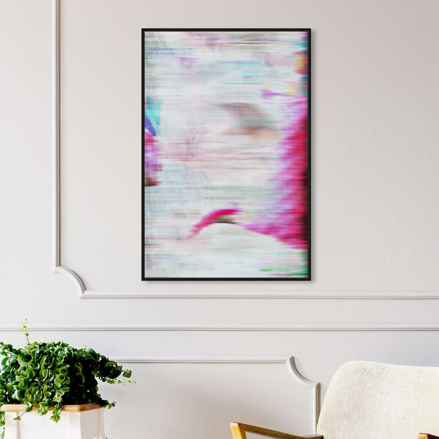 Hanging view of Vivace featuring abstract and paint art.