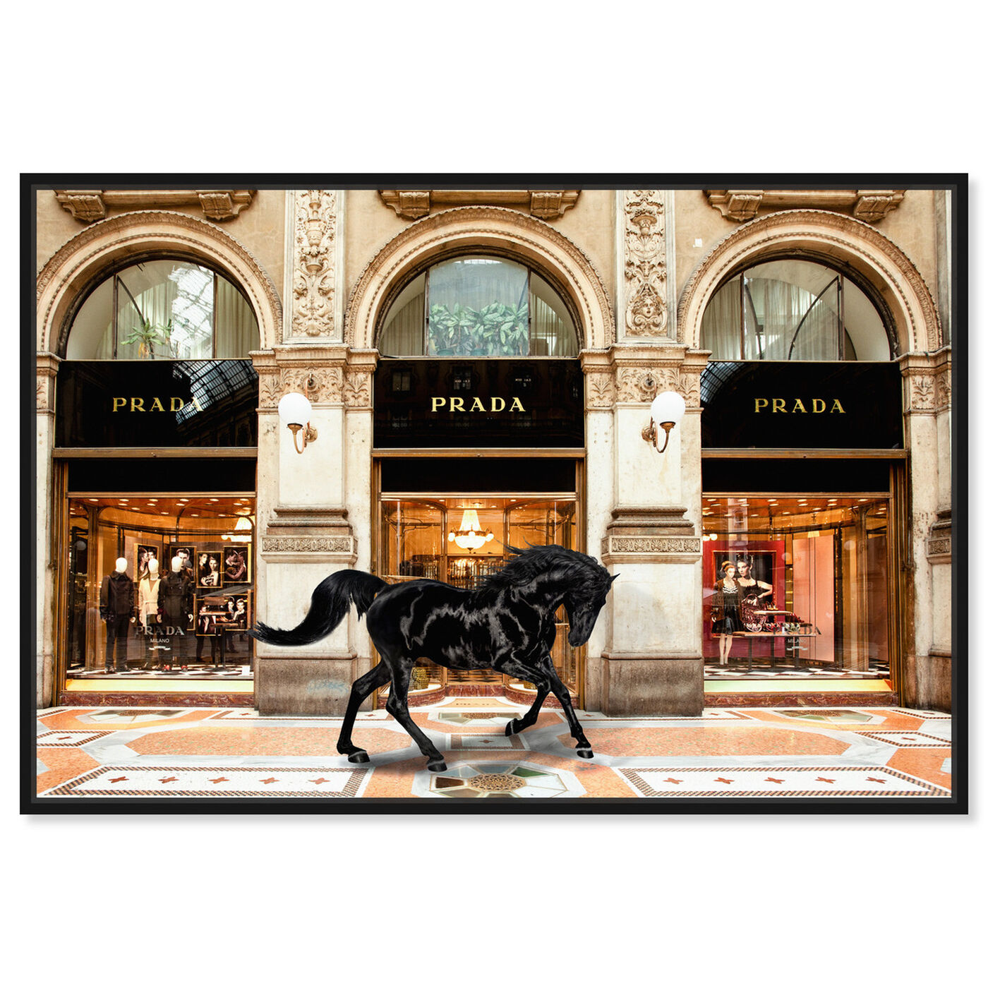 Front view of Royal Shopping in Italy featuring fashion and glam and lifestyle art.