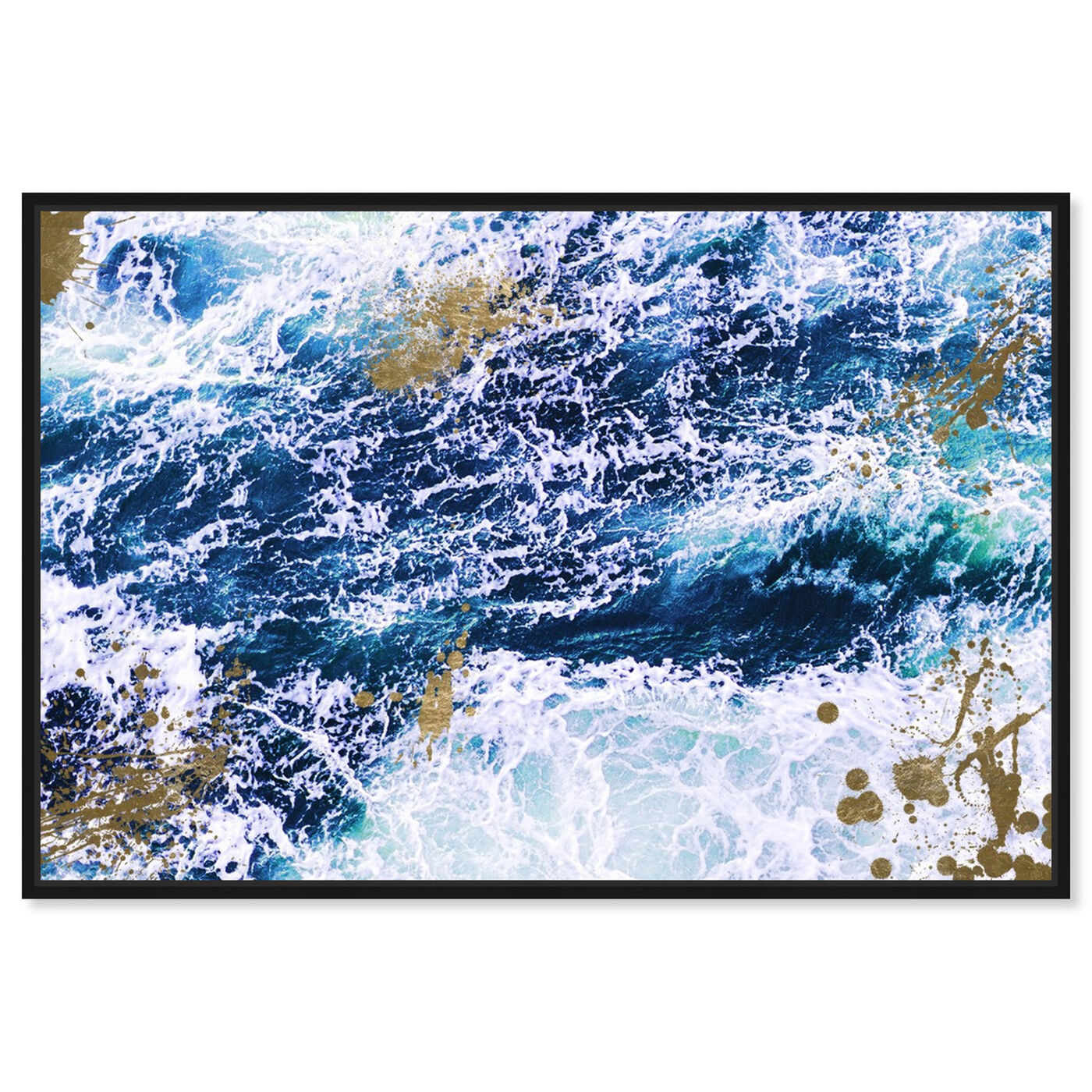 Front view of Seas of Gold featuring nautical and coastal and coastal art.